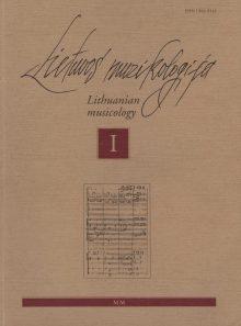 Lietuvos muzikologija Nr.1