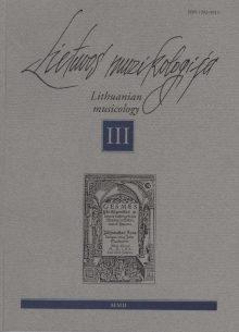 Lietuvos muzikologija Nr.3