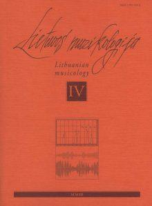 Lietuvos muzikologija Nr.4