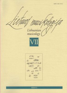 Lietuvos muzikologija Nr.7