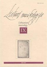 Lietuvos muzikologija Nr.9