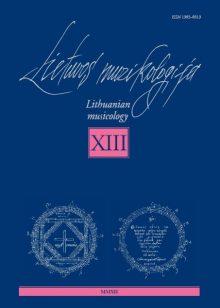 Lietuvos muzikologija Nr.13