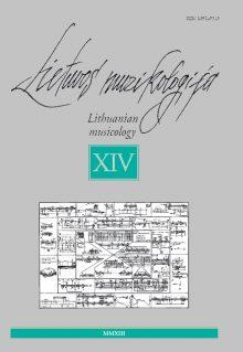 Lietuvos muzikologija Nr.14