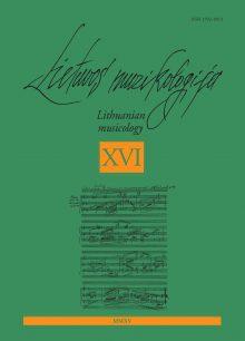 Lietuvos muzikologija Nr.16