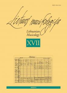 Lietuvos muzikologija Nr. 17