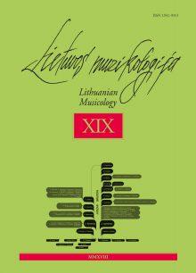 Lietuvos muzikologija Nr. 19