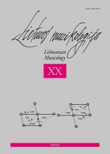 Lietuvos muzikologija Nr. 20