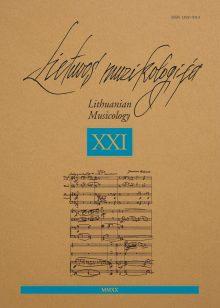 Lietuvos muzikologija Nr. 21